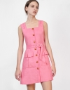 Square Neck Utility Pocket Dress