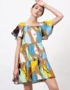 Art Print Tier Dress