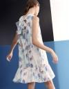 ギャザー付きタイドバックドレス