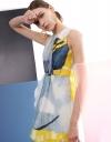 アシメトリックラップドレス