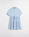 ドローストリングのシャツドレス