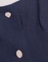ボタン飾りのミディドレス