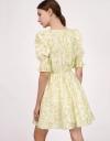 Printed Tea Dress with Puff Sleeves