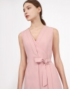 Layer Dress with Tied Belt