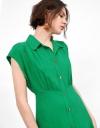 ハイウエストシャツドレス