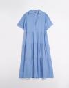 ティアディテールのチュニックシャツドレス