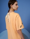 オーバーサイズ配置プリントチュニックドレス