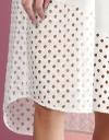 アイレットディテールのチュニックシャツドレス