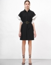 コントラストスリーブのコンバーチブルドレス