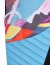プリーツディテールのカラーブロックアートプリントドレス