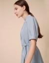 Shirt Dress with Tied Sash Belt