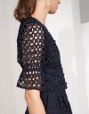 Embroidery Eyelet Crop Top